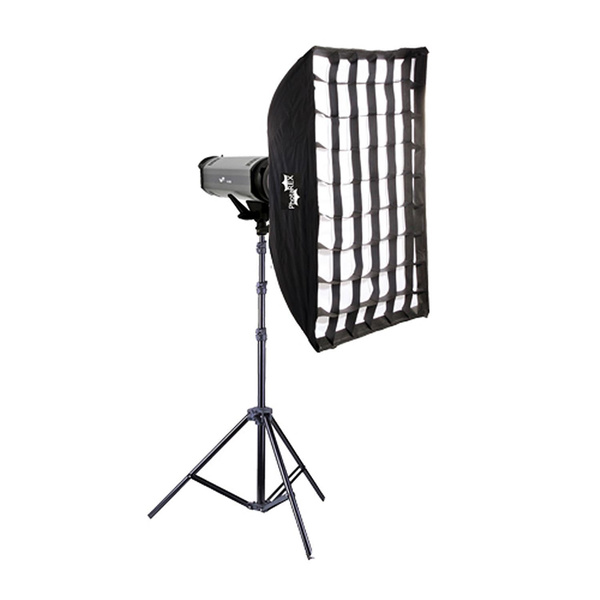 NICEFOTO K600 Studioset 600Ws + Rapid Set-up Softbox 80x120cm