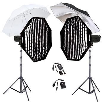 PHOTAREX A600 Flash Head Kit 600/600Ws + 2 x Octa Softbox...