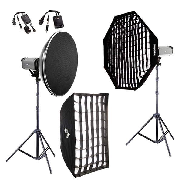 PHOTAREX K600 Studioset 600/600Ws + Beauty Dish + 2 Softboxen
