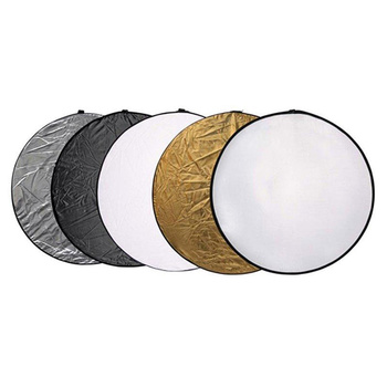 NICEFOTO 5-in-1 Collapsible Reflector Disc | 110cm | with...