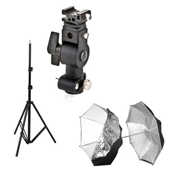 NICEFOTO Flash and Umbrella Bracket Kit for Speedlights -...