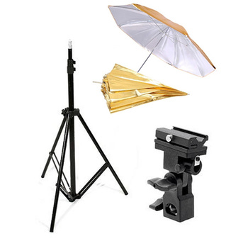 PHOTAREX Flash/Umbrella Bracket + Convertible Umbrella...