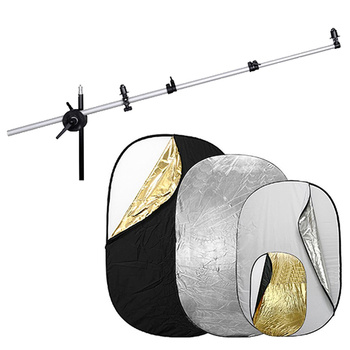 NICEFOTO 5-in-1 Oval Collapsible Reflector Disc with...