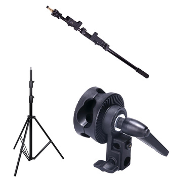 PHOTAREX Telescopic Collapsible Reflector and Flash Head...