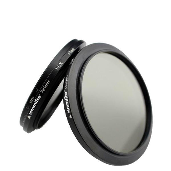 COMSTAR Vario ND Filter Graufilter - 72mm - ND2 bis ND400 (ca.  2 (ND 0.6) bis 8 (ND 2.4) Blenden )
