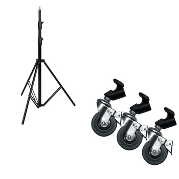 PHOTAREX Air-Cushioned Heavy-Duty Light Stand LS-360AT -...