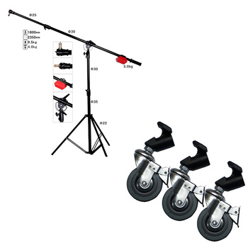 PHOTAREX LS10 Heavy Duty Boom with Stand, Counterweight...