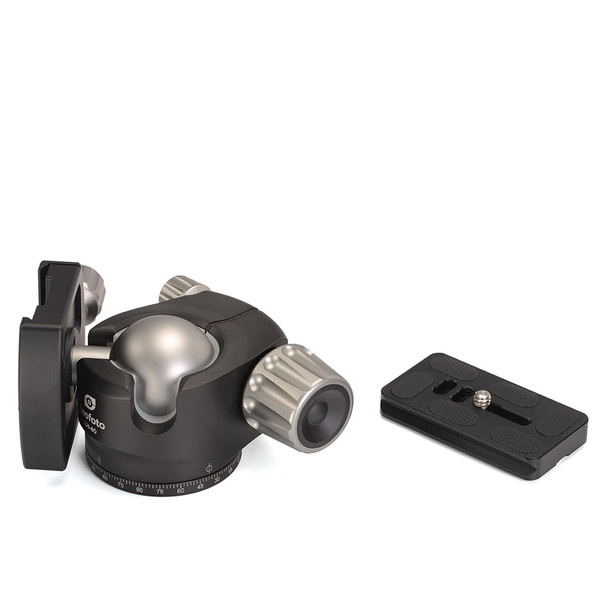 LEOFOTO LH-40 Low Profile Ball Head with Quick Release Plate - Load Capacity 15 kg