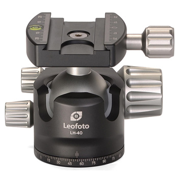 LEOFOTO LH-40 Low Profile Ball Head with QR-Plate - Load...