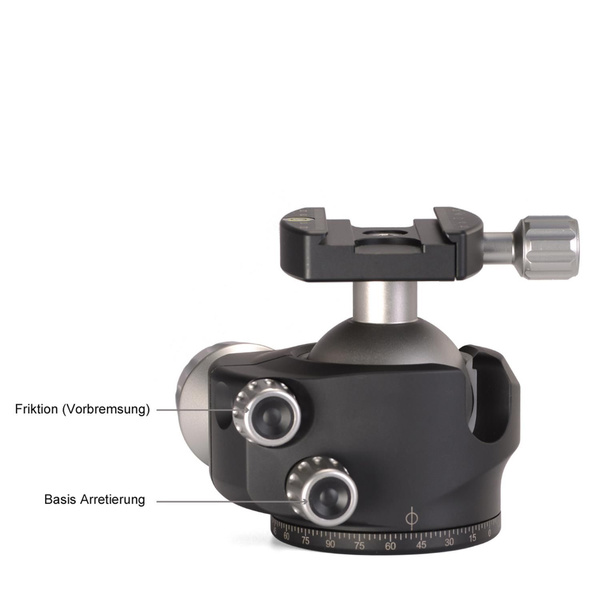 LEOFOTO LH-55 Low Profile Ball Head with Quick Release Plate | Load Cap. 30 kg