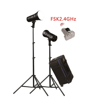 NICEFOTO nFlash 300 portables Studioblitz Set 2 x 300Ws...