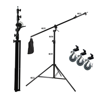 PHOTAREX LS-16 Combi Boom and Light Stand with Wheels