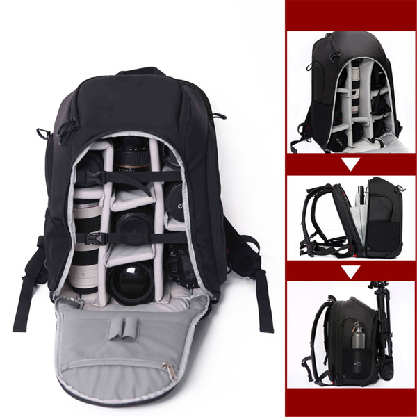 SAHARA KAIMAN-8 Camera Backpack with Tripod Holder & Rain Cover - black