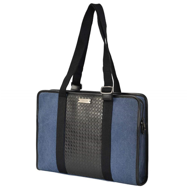 OSOCE TERRA-12 Business Bag - Briefcase made of Microfiber - navy blue / black