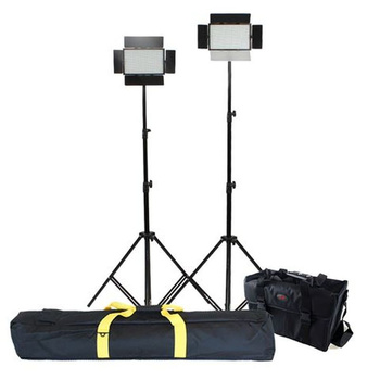 FALCON EYES DV-384CT Bi-Color LED Leuchten Set + Stative...