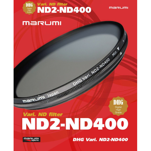 MARUMI Vario ND Graufilter ND2 bis ND400 - 55mm