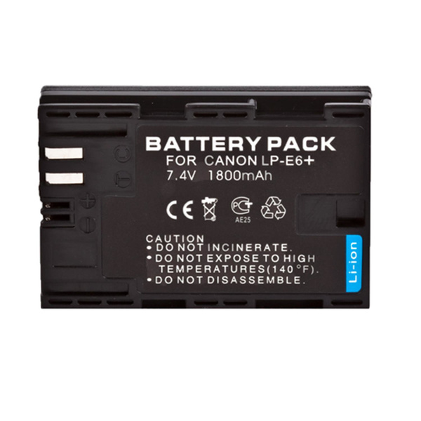 Rechargeable Lithium-Ion Battery Pack  with Microchip - Replacement for CanonLP-E6