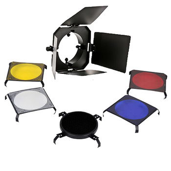 PHOTAREX Reflector Barndoor Kit - 3 Color Filter +...