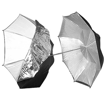 PHOTAREX Reversible Umbrella (Black/Silver/White) 83cm