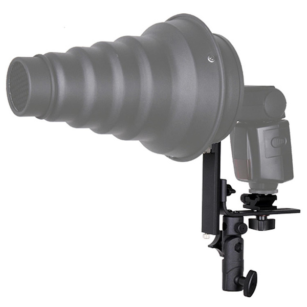 PHOTAREX 4-in-1 Blitz- und Schirmhalter mit Bowens S-Typ Bajonett + Stativ + Quick Set-up Softbox 60x90cm