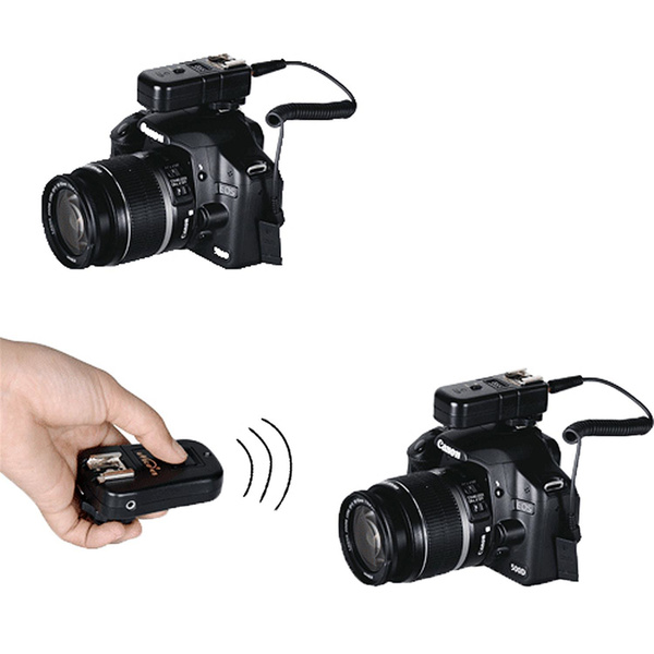 PHOTAREX RF-602A Triple Function Trigger: Speedlight, Flash Head  and Shutter Release for Canon C3 Camera Connection - Set with 2 Receiver