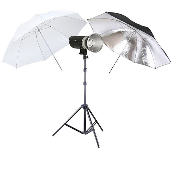 PHOTAREX A400 Flash Head Kit 400Ws with Bowens Mount + Light Stand + 2 Umbrellas