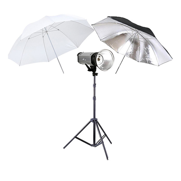 PHOTAREX K600 Flash Head Kit 600Ws with Bowens Mount + Light Stand + 2 Umbrellas